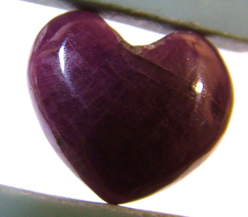 RED RUBY HEART CARVING 8.25 CTS PG-552