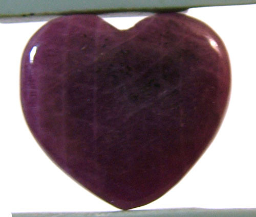 RED RUBY HEART CARVING 22.95 CTS PG-586