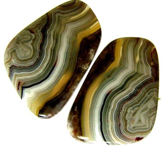 LAGUNA LACE  AGATE-PAIRS   - POLISHED  30.30 CTS [MX6669 ]