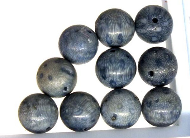 BLUE CORAL BEADS 16 CTS TBG-1748