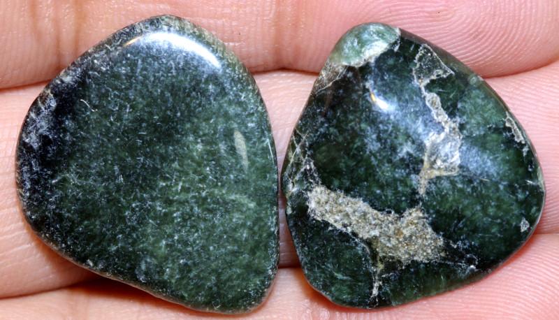GREEN SERAPHINITE  47 CTS ADG-305