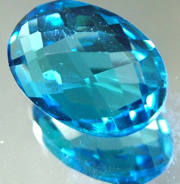 LONDON  BLUE  TOPAZ --CUT BOTH SIDES -VS- 8.92  CTS [TS816 ]