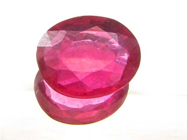 CERT EYE CLEAN WIDE FACTED CUT RED RUBY 3.38  CTS 0321