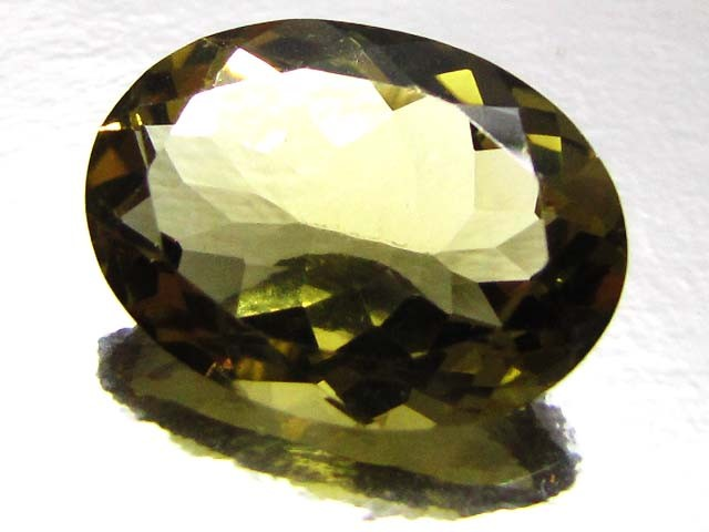 CERTIFIED  GOLDEN OLIVE YELLOW  CITRINE 10.26 CTS 0709