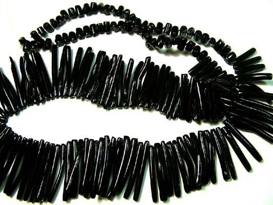 NATURAL BLACK CORAL NECKLACE 200 CTS FJ 8379 (FO-TBO)