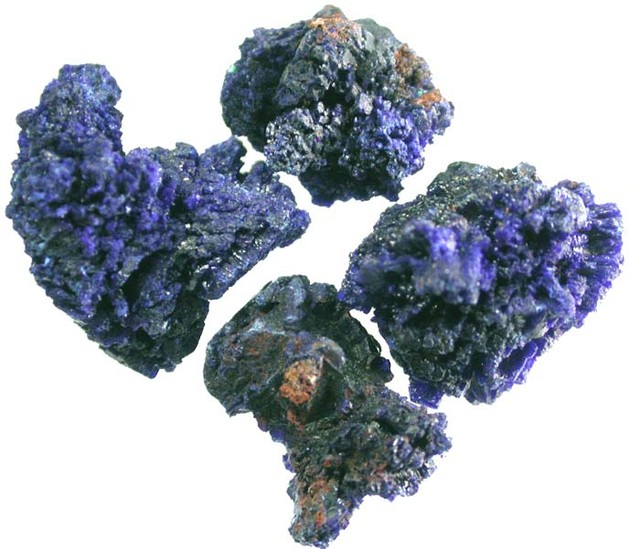 PARCEL AZURITE  SPECIMEN FROM MOROCCO  30.55 CTS [MX 6925]