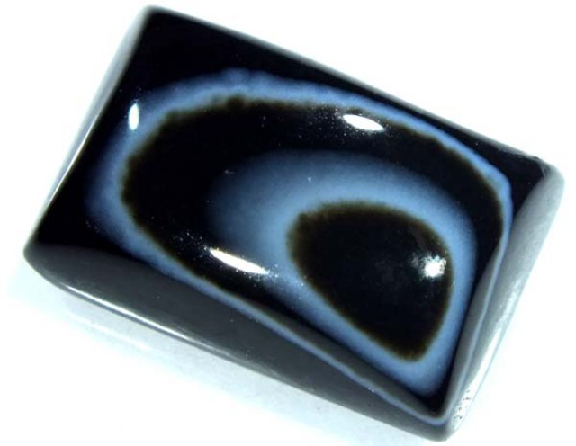 BLACK AND WHITE BANDED AGATE 25 CTS  NP-888