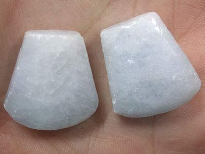 PAIR OF CHARCHYDNONY  36.40 CARATS G1761