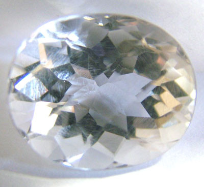 FACETED CLEAR CRYSTAL QUARTZ 8.55 CTS PG-582