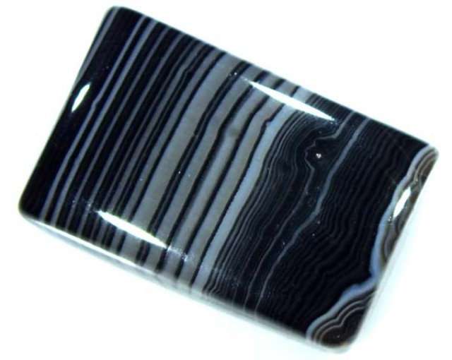 BLACK AND WHITE BANDED AGATE 25 CTS NP-873