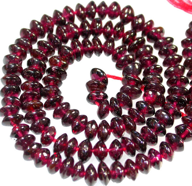 BRIGHT GARNET BEADS FROM MADAGSCAR  90.35 CTS [GT 2067]