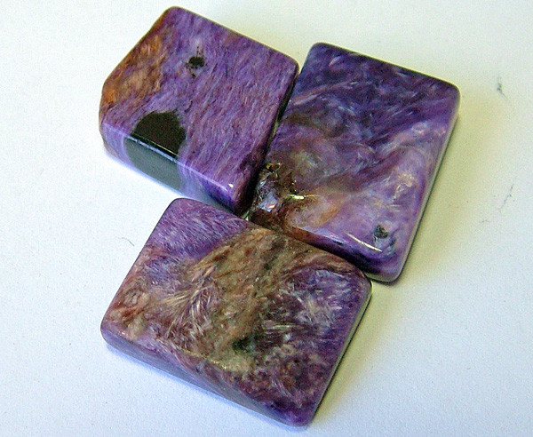 Charoite  3 piece parcel cts-46.00   AS 5581