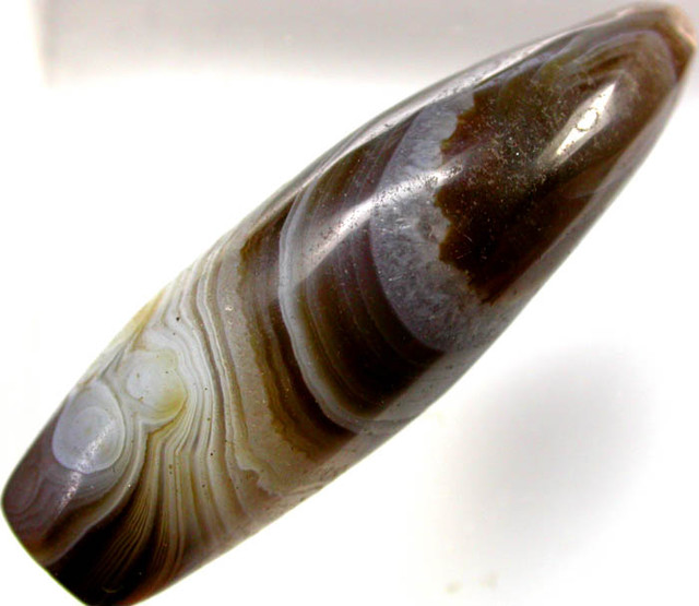 BEAUTIFULL BANDED AGATE FREE SHIPPING  29.83   CTS [G23   ]
