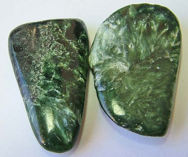 55.55 cts Seraphinite Stone  2 piece parcel   AS 5733