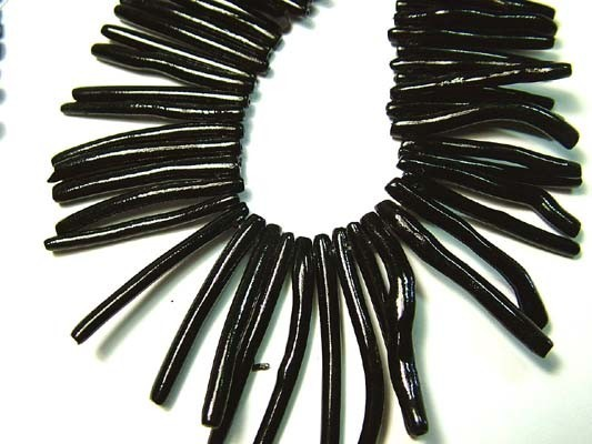 NATURAL BLACK CORAL NECKLACE 180 CTS  AS5806