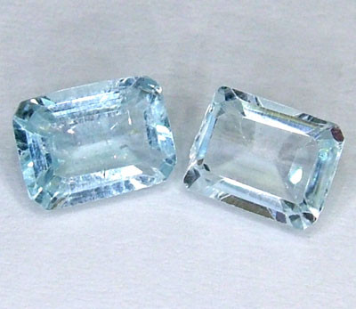BLUE TOPAZ NATURAL FACETED (2 PC) 2.45 CTS  PG-1006