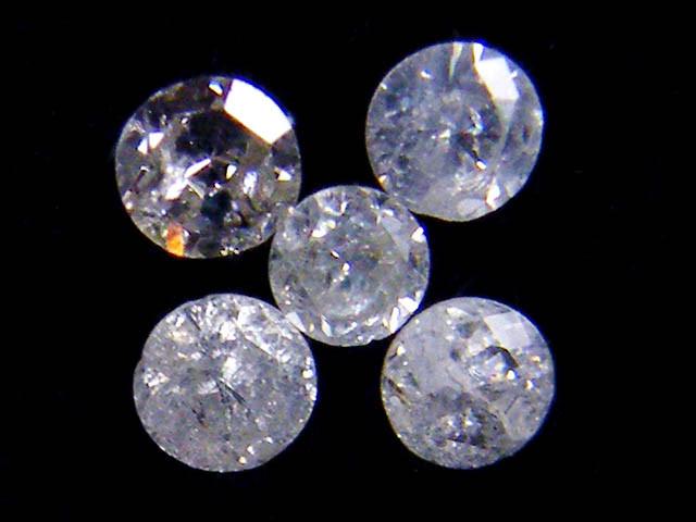 PARCEL 5 WHITE 2 POINTER DIAMONDS 0.15 CARATS OP1442