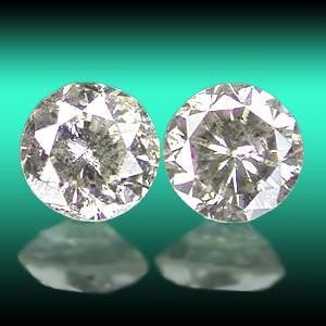 NATURAL FANCYGREYWHITE DIAMOND-0.20CTWSIZE-2PCS-PAIR,NR
