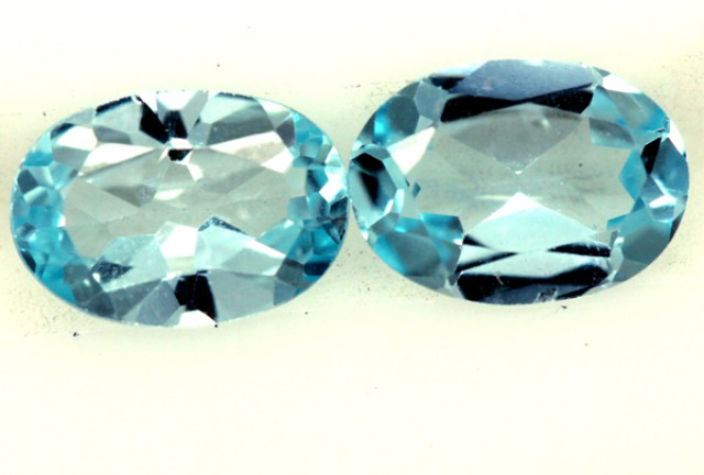 BLUE TOPAZ NATURAL FACETED (2 PC) 1.55 CTS  PG-1265