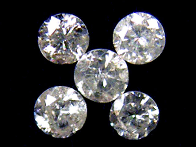 PARCEL 5 WHITE VS 1.5 POINTER DIAMONDS 0.267CT OP1496