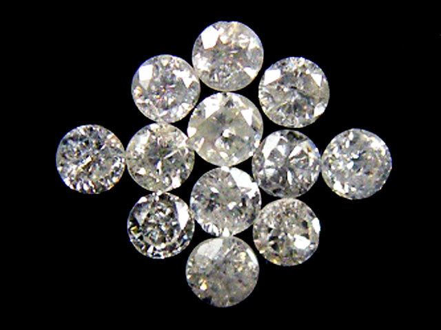 PARCEL 12 WHITE VS 1.5 POINTER DIAMONDS 0.364CT OP1514