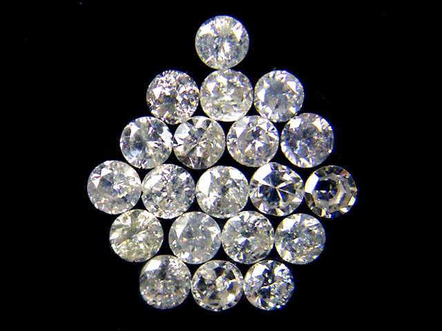 PARCEL 20 WHITE VS 1.6 POINTER DIAMONDS 0.587CT OP1528