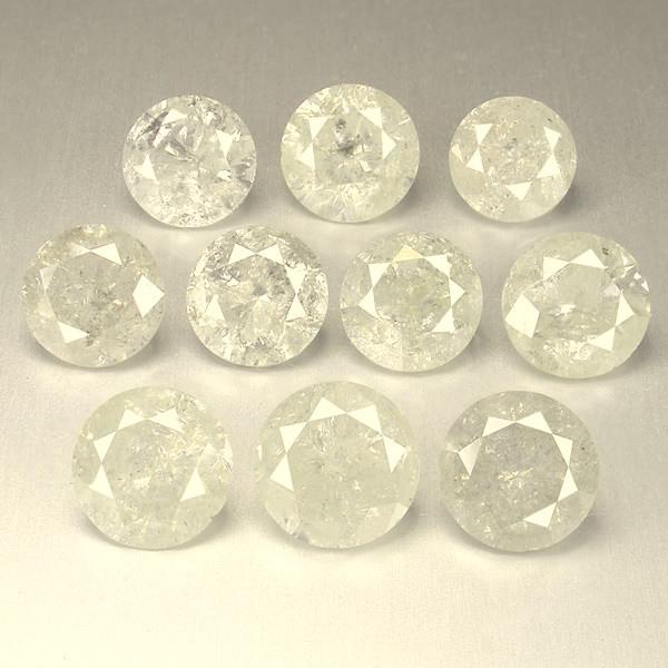 NATURAL FANCY-WHITE DIAMOND-2MMSIZE--10PCS,NORESERVE