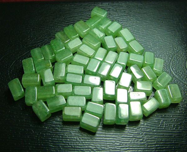 100% Natural Fancy Green Aventurine Beads B289
