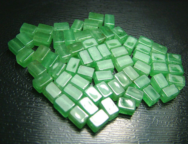 100% Natural Fancy Green Aventurine Beads B304