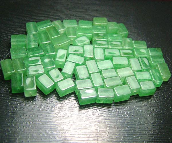 100% Natural Fancy Green Aventurine Beads B305