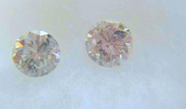 NATURAL- WHITE DIAMOND-0.25CTWSIZE-4MM-2PCS,NR