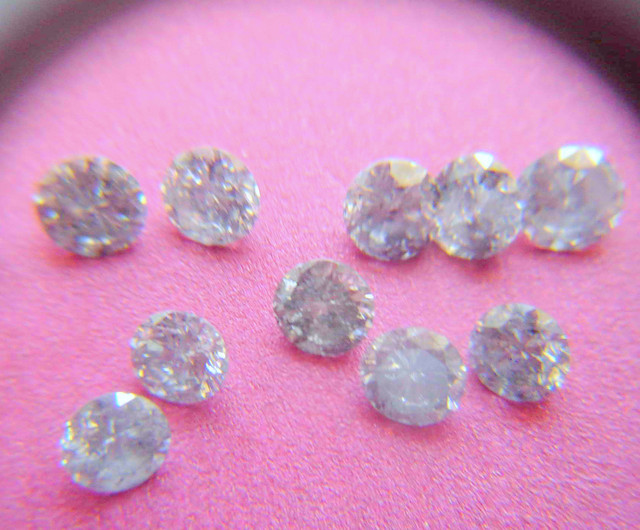 NATURAL WHITE DIAMOND-3MMSIZE--10PCS,NORESERVE