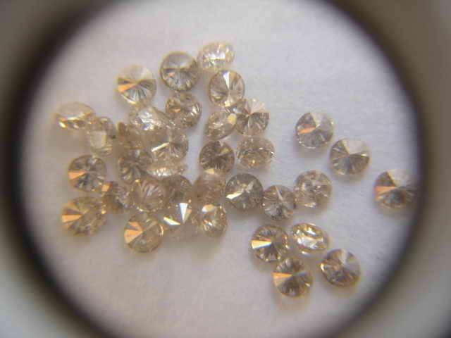 NATURAL CHAMAPNGE DIAMOND-O.10CTWSIZE-3MM-2CTWLOT,NR