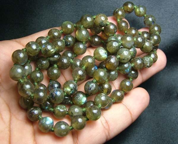 100% Natural Multicolor Labradorite Beads B407