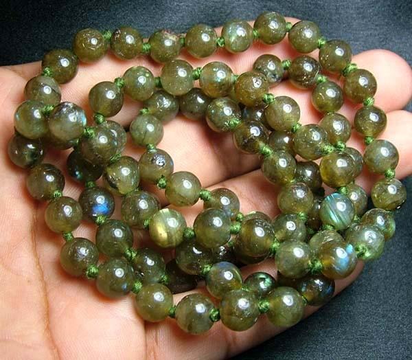 100% Natural Multicolor Labradorite Beads B400