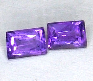 AMETHYST FACETED (2 PC ) 0.50 CTS CG-1446