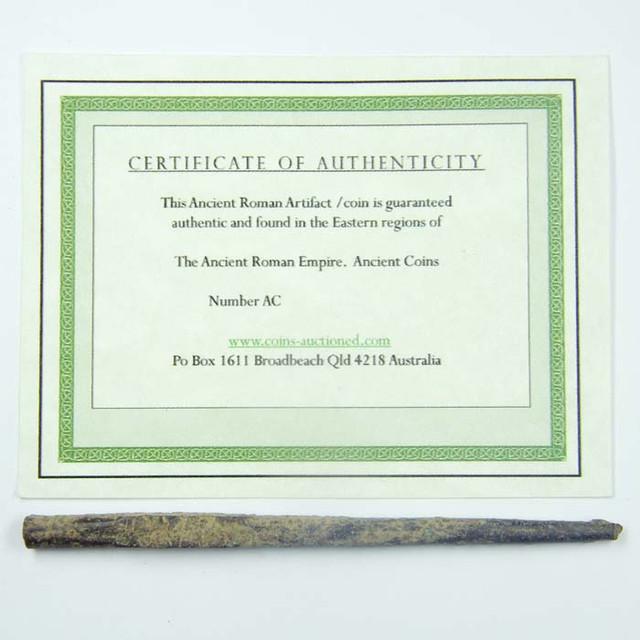 LONG ANCIENT ROMAN ARTIFACT BRONZE TOOL 100-200 AD OPAC1609