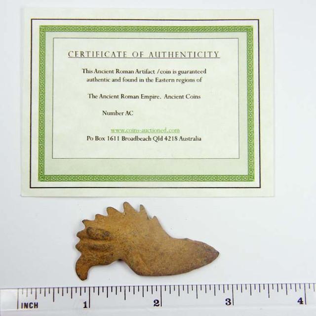 ANCIENT ROMAN ARTIFACT CANAANITE  BRONZE 1500-400BC OPAC1667