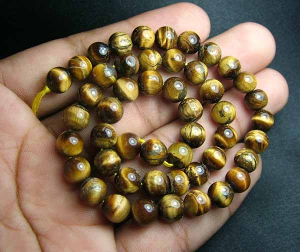 100% Natural Tiger Eye  Round Beads B559