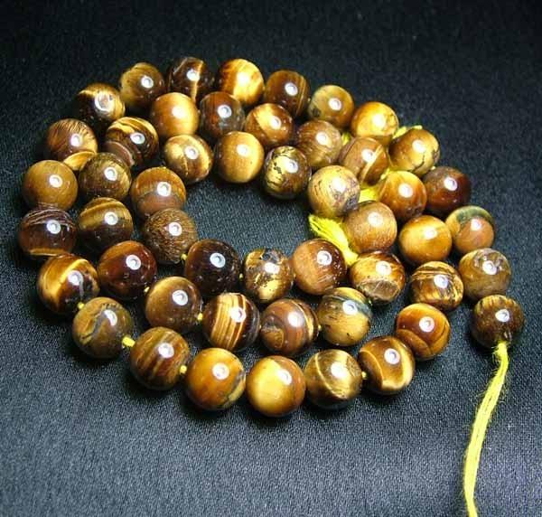 100% Natural Tiger Eye Round Beads B562