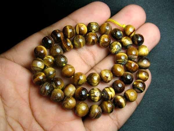 100% Natural Tiger Eye Round Beads B550