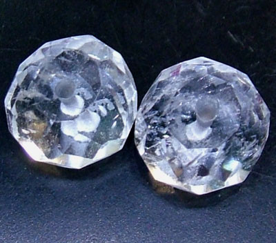 AQUAMARINE FACETED BEADS (2 PC) 6.15 CTS NP-1505