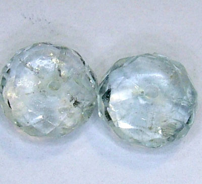 AQUAMARINE FACETED BEADS (2 PC) 3.60 CTS NP-1507