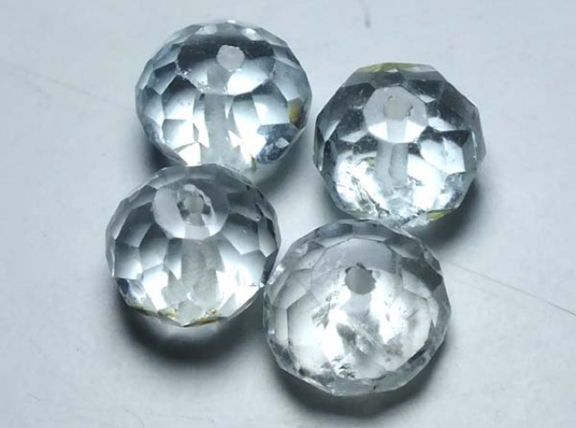 AQUAMARINE FACETED BEADS (4PC) 11.90CTS NP-1495