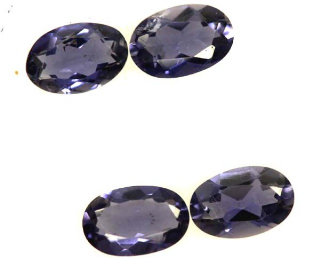 IOLITE FACETED STONE (2 PAIR) 1.50 CTS  PG-1315