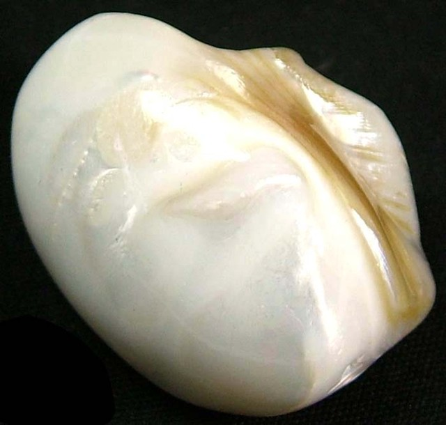 PEARLY WHITE IRRESESENT BEAD-DRILLED 44.10 CTS [PF1685]