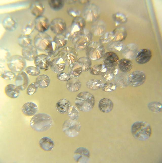 NATURAL WHITE DIAMOND-1.5MMSIZE-1CTWLOT,70PCS,NR