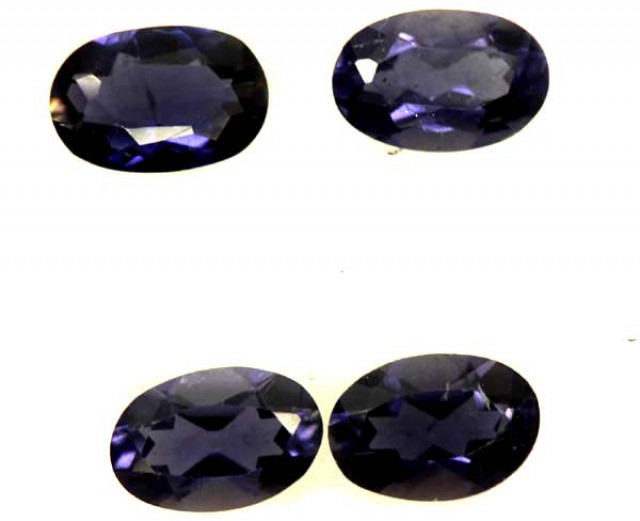IOLITE FACETED STONE (4 PCS) 1.45 CTS  PG-1315