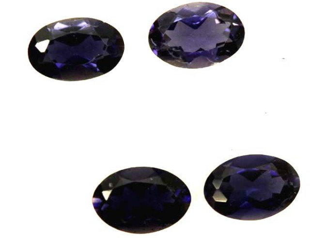 IOLITE FACETED STONE (4 PCS) 1.45 CTS  PG-1306