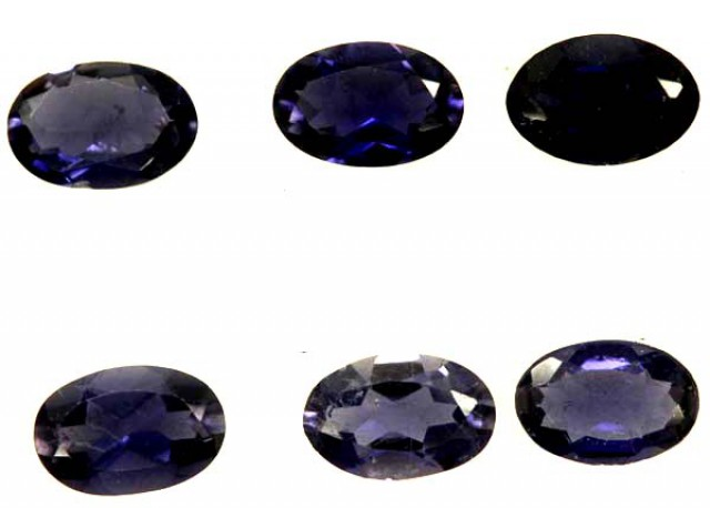 IOLITE FACETED STONE (6 PCS) 2.15  CTS   PG-1293